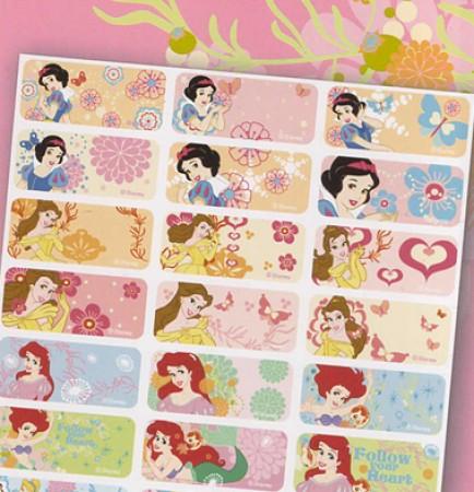 迪士尼公主 熨燙布貼 3x1.3cm (144貼)【貼貼人】