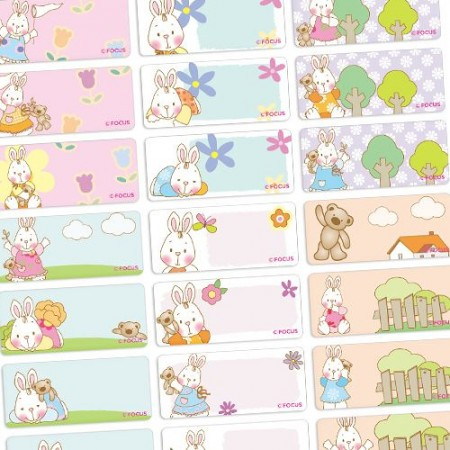 貼貼人_甜心兔-Lovely Bunny大)授權姓名貼