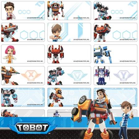 貼貼人_機器戰士TOBOT (大) 姓名貼紙 + 送精美授權 Mini 夾