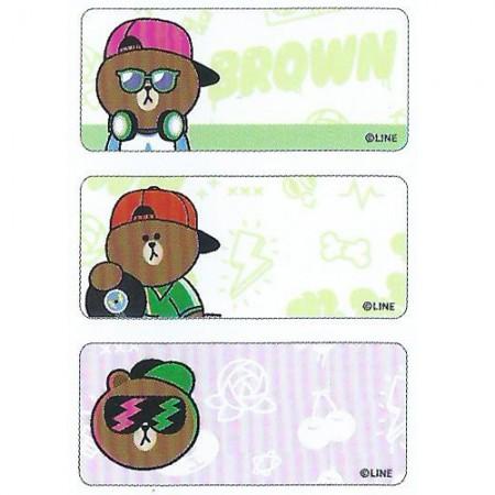 貼貼人 LINE FRIENDS 嘻哈款 (鑽石版)  姓名貼紙 + 送可愛收納夾一個