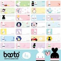 貼貼人啵兔 BOOTO(小) 姓名貼紙 + 送精美授權 Mini 夾