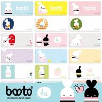 貼貼人啵兔 BOOTO (大) 姓名貼紙 + 送精美授權 Mini 夾
